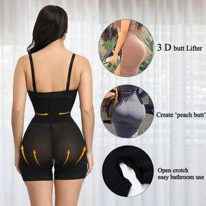 Image 4 - Hexin プラスサイズ女性フルボディニッパー痩身 mid 太ももシェイパー fajastummy コントロールシームレス産後ボディガードル