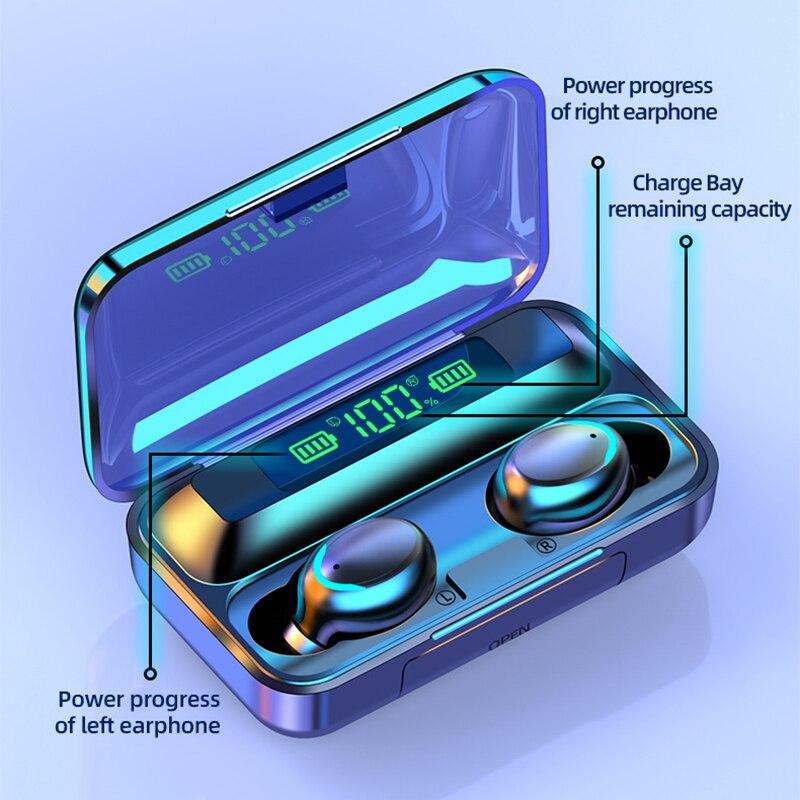 Беспроводной наушники bluetooth f9 вкладыши tws с 50 светодиодный