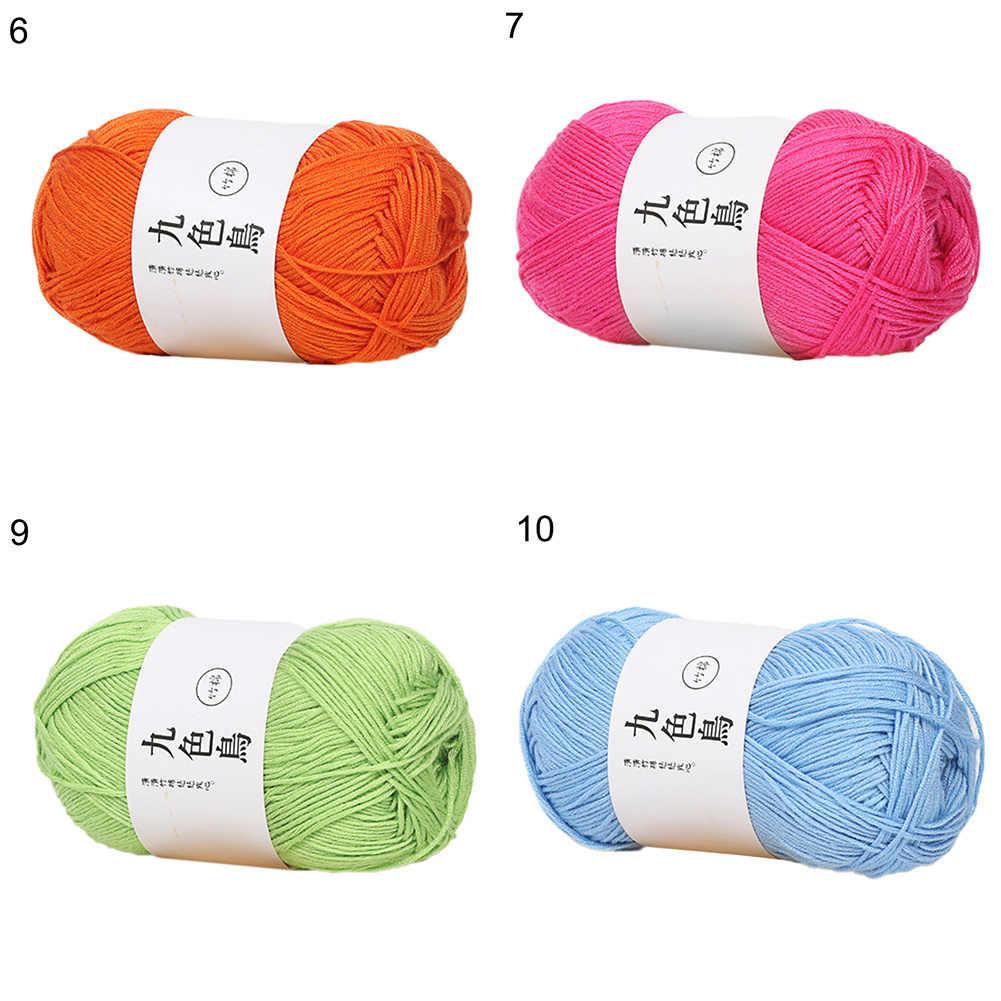 50G Sợi Cho Đan Len Sợi Móc Sợi Chăn Áo Len Khăn Quàng Sữa Sợi Cotton Tay Kitting DIY Phụ Kiện May Vá lanas