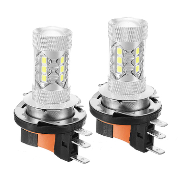 New 2pcs H15 LED Car Headlight Bulbs HID 12V 6000K Super Bright White Headlight For Car Light Source Universal 12v 24v relay harness control cable for h4 hi lo hid bulbs wiring controller