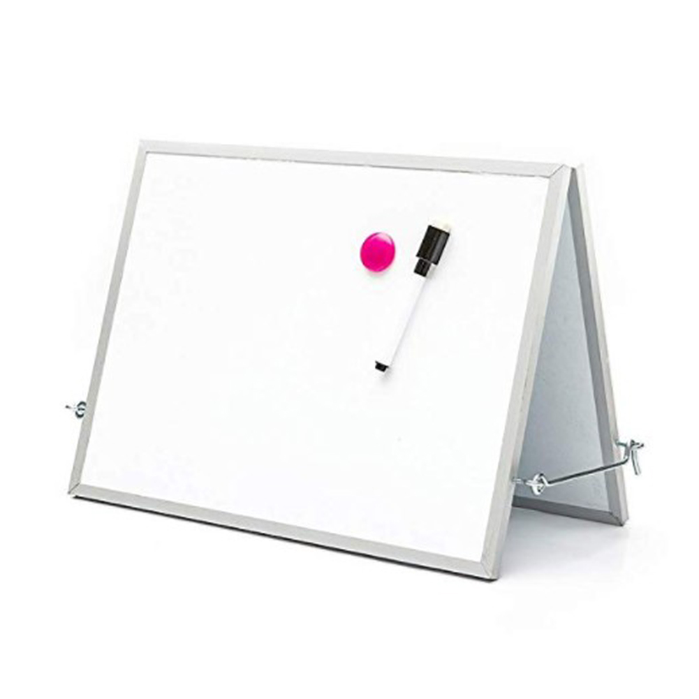 Kids Magnetic Drawing White Board Portable Writing Board With Double Side Holder Drawing Board Teacher Instruction Memo Board