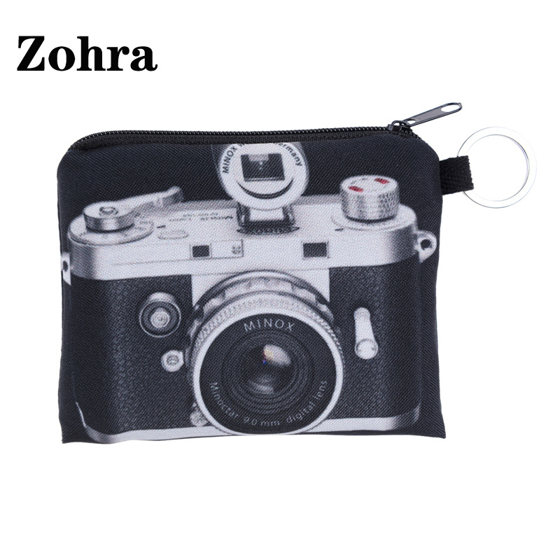 2019 New Style 3D Digital Printing Zohra New Style Vintage Camera Purse Hot Selling