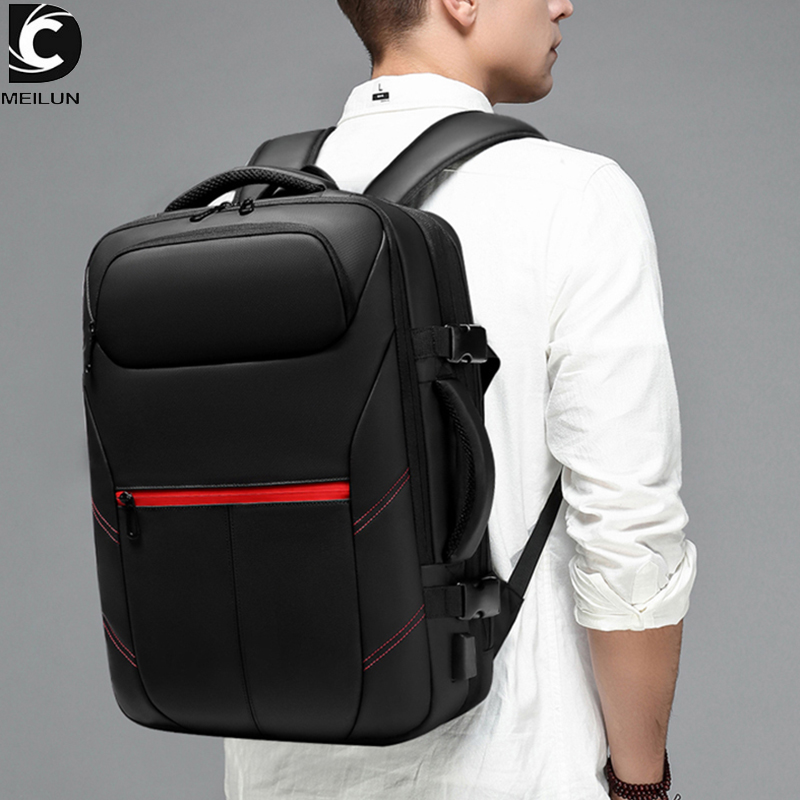 Large Capacity Travel Backpack Men 15.6 Inch Laptop Bag Male Mochila Expandable Rucksack USB Charging Backpack Waterproof A1962