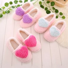 Slippers Anti-Slip Plush-Floor Warm Thick Winter Women Casual Sweet Flat-Shoes Soft Indoor