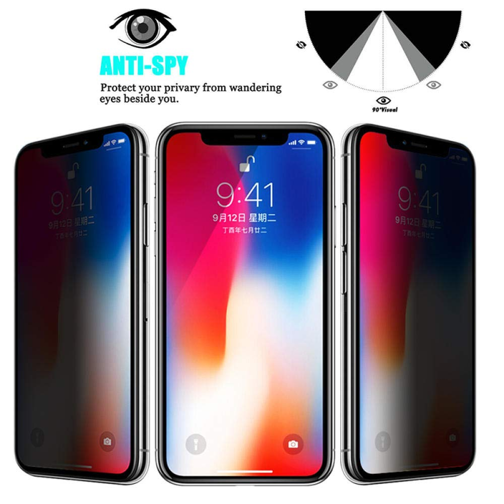 Закаленное стекло для защиты экрана iPhone 11 Pro Max, антишпионская Защитная пленка для iPhone X XS MAX XR 6 6s 7 8 Plus 5