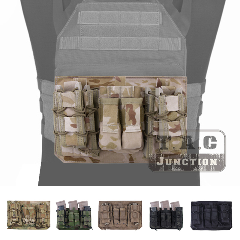Emerson LBX-4020G APC Vest Assaulter Panel MOLLE Plate Carrier Front Pack Tactical Pack Attacker Panel Wit Mag Pouch For Vest