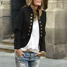 Women Long Sleeve Coats Jackets 2019 ZANZEA Plus Size 5XL Casual Loose Chaqueta