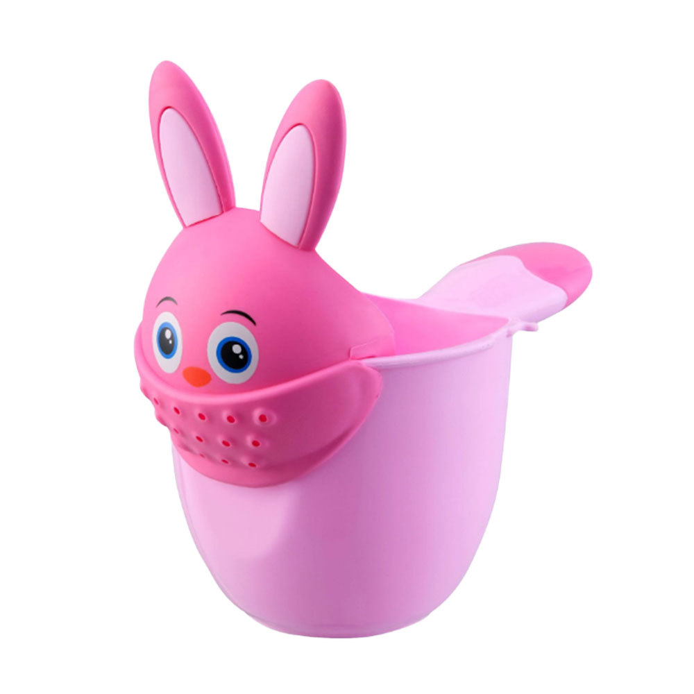 Newborn Shower Shampoo Cup Baby Cartoon Rabbit Shower Cup Shower Water Spoon Bath Cup Watering Cup PP Plastic New