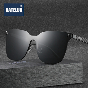 Image 1 - Kateluo 2020 Classic Vrouwen Oversized Zonnebril Gepolariseerde UV400 Lens Zonnebril Voor Vrouwen Glazen Voor Rijden 8033