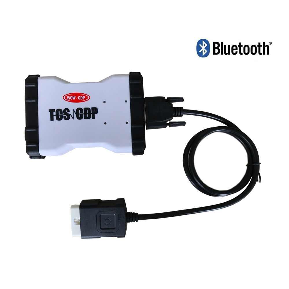 Mới Adapter Hoạt Động Trên Xe Ô Tô Và Xe Tải 3 In1 Mới VCI Với Phiên Bản Bluetooth 2016r0 Keygen Công Cụ Chẩn Đoán + 8 Chiếc Xe Cáp