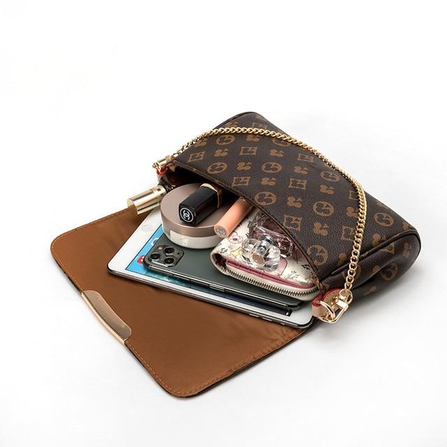 2020 louis Women Shoulder Bag with Chain Print Bag luxury Designer Crossbody Bags Luxury Brand Purses and Handbags high Quality 5