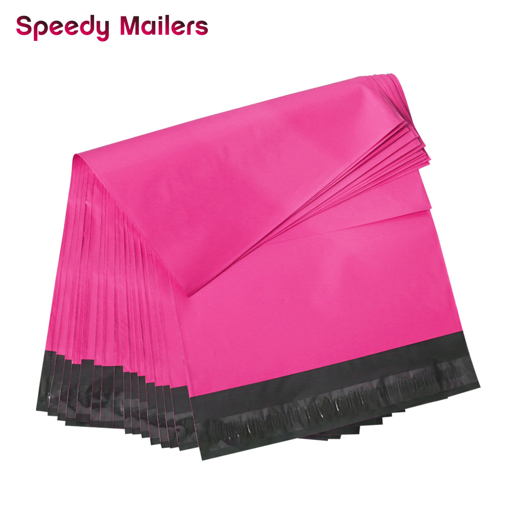 Speedy Mailers 100PCS 10x13inch Colorful Poly Mailer Rose Pink Poly Mailer Self Seal Plastic Packing Envelope Bags 260x330mm