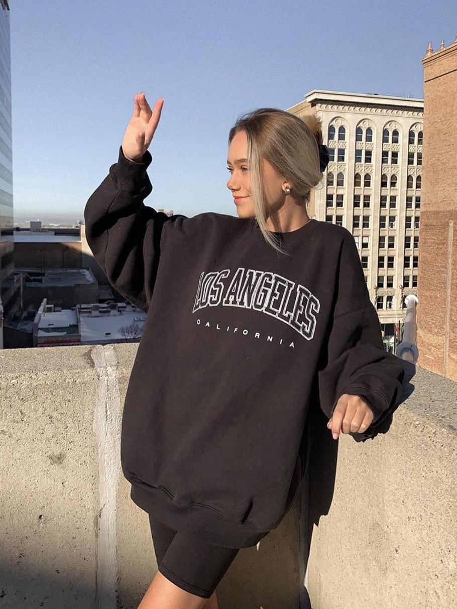 Permalink to Letter Print Pullovers Streetwear Women Hoodies Long Sleeve Loose Autumn Casual Woman Sweatshirt 2020 Fashion Hoodies For Women
