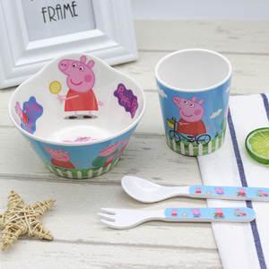 Tableware-Set Knife-Fork Spoon Peppa-Pig Children Dinnerware Cutlery-Gift Dishwasher