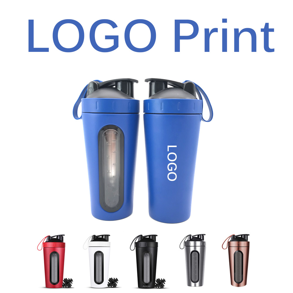 Ha53fe09fbb8c4f289b6d2009993ec8ddU 28OZ Whey Protein Powder Sports Shaker Bottle For Water Bottles Gym Nutrition Blender Cup Stainless Steel Vacuum Insulation