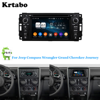 Car radio Android multimedia player 4G RAM GPS For Jeep Wrangler Compass Grand Cherokee Journey For Chrysler 300C Sebring