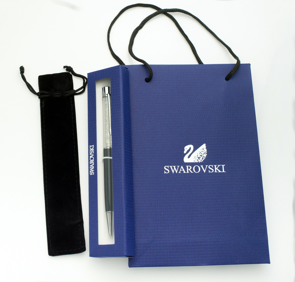 Luxury Diamong On Top Swarovsky Crystal Pen With  Gift Bag And Pen Box And Velvet Pouch Student Lovely Crystals Ballpoint Pen