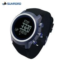 SUNROAD digital sports watch with pedometer calorie altimeter compass thermometer 50m waterproof touch screen