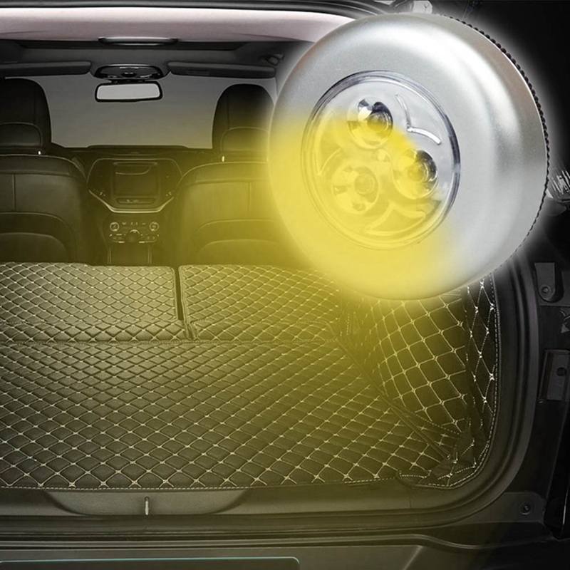 3 LED Touch Light Push Lamp Night Light Car Home Wall Cabinet Camping Battery Power Emergency Car Lamp