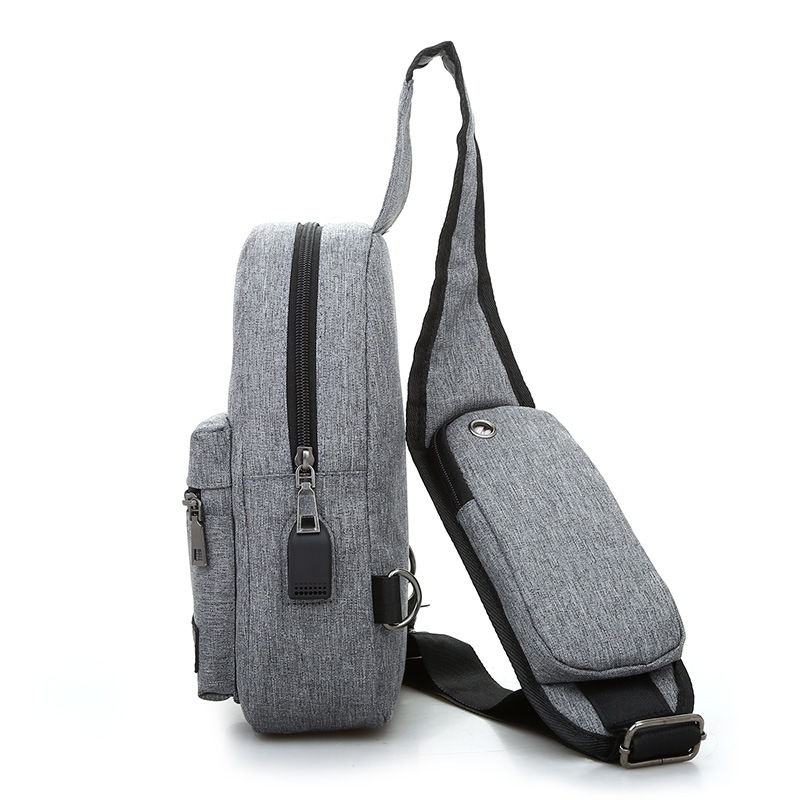 New Style Korean-style Men's Bag Men Chest Pack Casual WOMEN'S Single-shoulder Bag Sports Shoulder Bag Small Backpack