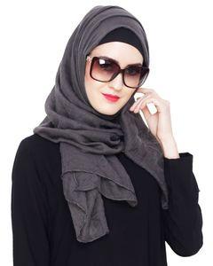 Image 4 - Wholesale price New Fashion Muslim crinkle hijab scarf femme musulman soft cotton headscarf islamic hijabs shawls and wraps