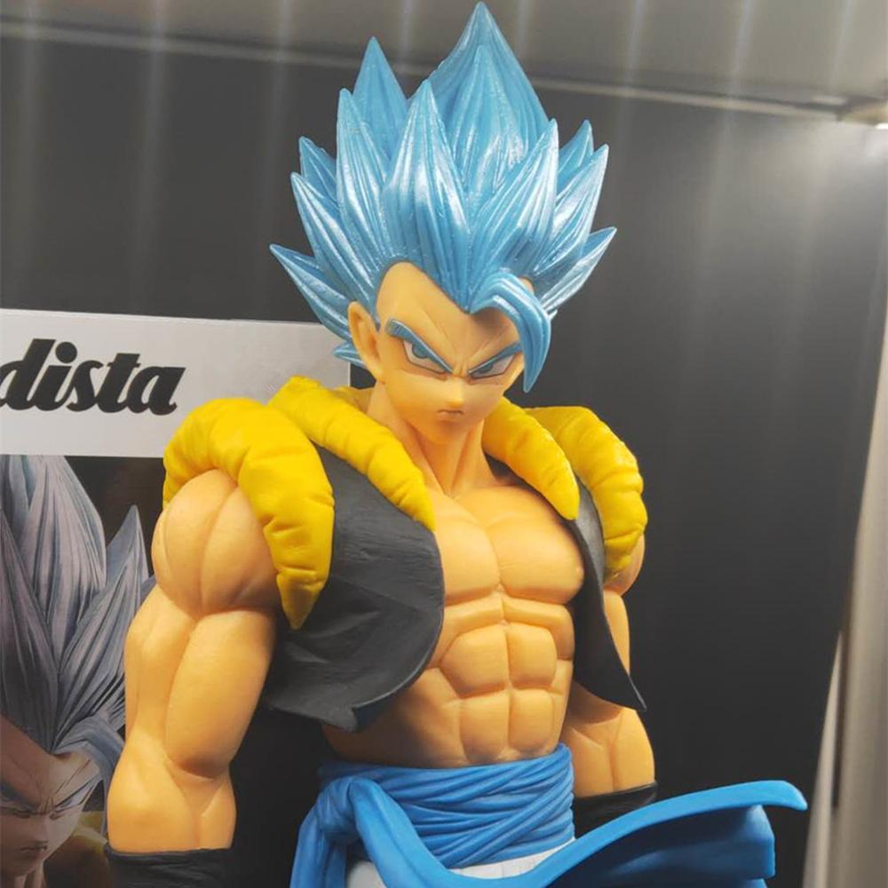 Dragon Ball Super Blue Gogeta Grandista ROS PVC Action Figures Anime Dragon Ball Z Goku Vegeta