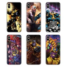 Cobre conceito Brinquedos Avengers marvel Thanos Para Samsung Galaxy S2 S3 S4 S5 MINI S6 S7 borda S8 S9 Plus nota 2 3 4 5 8 Fundas Coque(China)