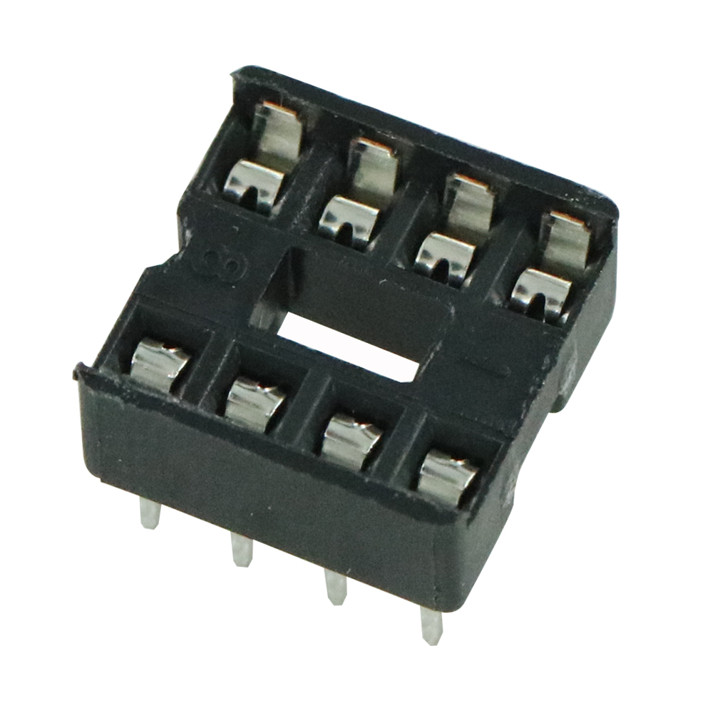50PCS 8pin 8 Pin DIP-8 8DIP 8 DIP IC Sockets Adaptor Solder Type 2.54MM