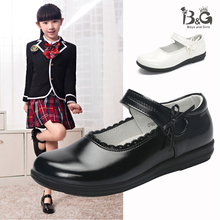 B&G Kids Geniue Leather Dancing Shoes Girl Princess Breathab