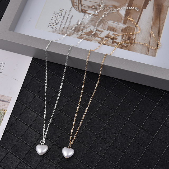 Pearl heart necklace 2