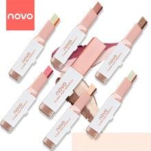 NOVO Velvet Gradient тени для век Two-color Pearl Eyeshadow Stick Eart