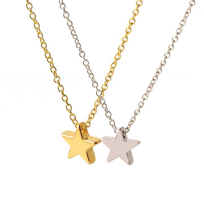 Simple mode étoile collier ras du cou pour les femmes élégant charmant dames chaîne en or pendentif colliers romantique Valentine fille cadeaux