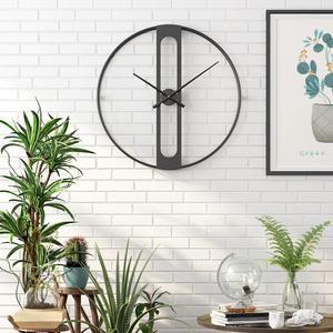 Image 5 - Nordic Metalen Wandklokken Retro Iron Ronde Gezicht Grote Outdoor Tuin Klok Home Decoratie Wandklok Modern Design Reloj Pared