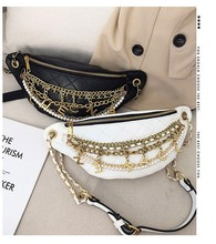 2020 New Wave Korean Fashion Retro Waist Bag Bags Small Fresh Rhombus Chain Shoulder Messenger Chest Bag