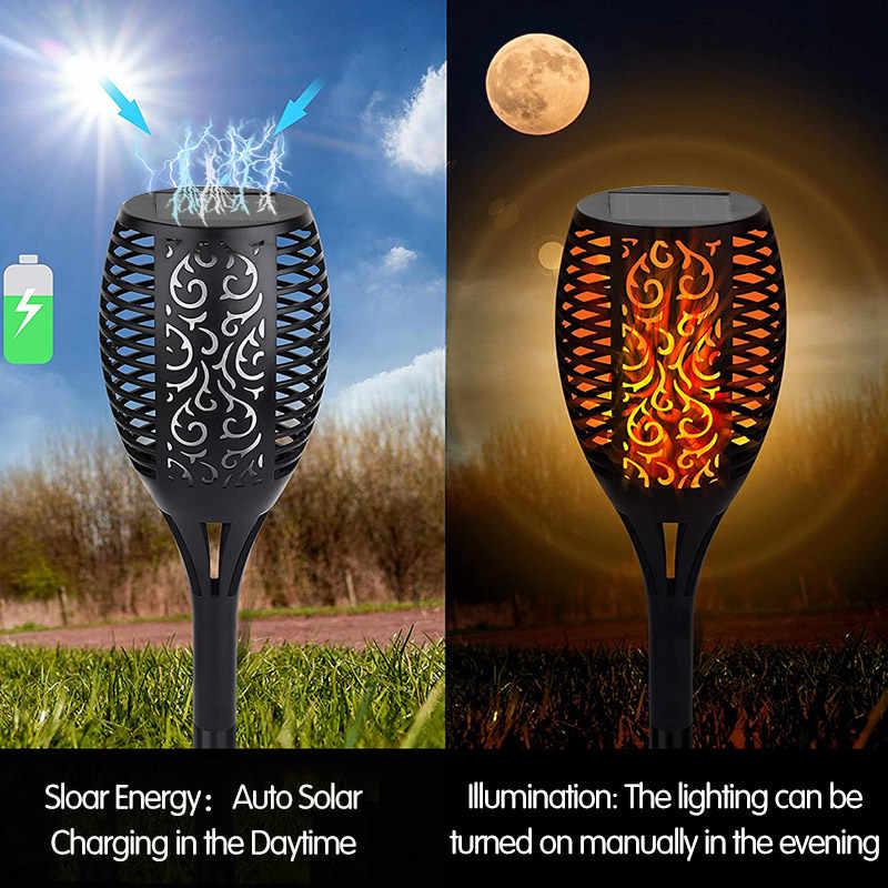 Led Solar Flame Light Flickering Veiligheid Waterdichte Outdoor Lamp Voor Tuin Decoratie Landschap Gazon Path Lamp Torch Spotlight