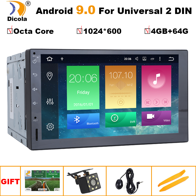 "Universal 7 /"" 2DIN Android 9.0 Car Radio GPS Navigation Audio Stereo MP5 Player"