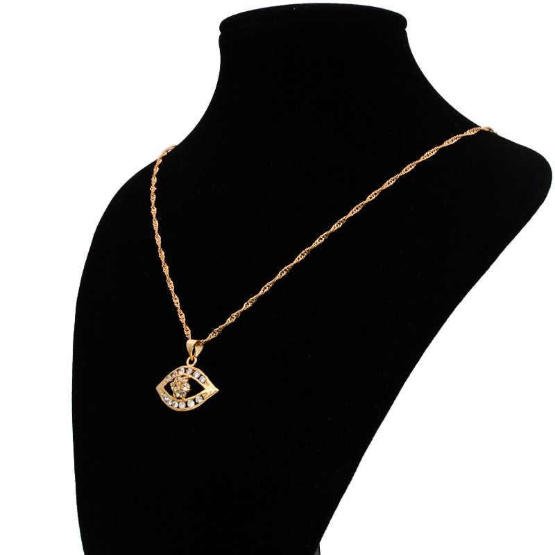 Vintage esprits mauvais œil pendentif or collier femmes chance amulette Talisman turc bijoux Wicca Pingente Olho Wisiorki N0518