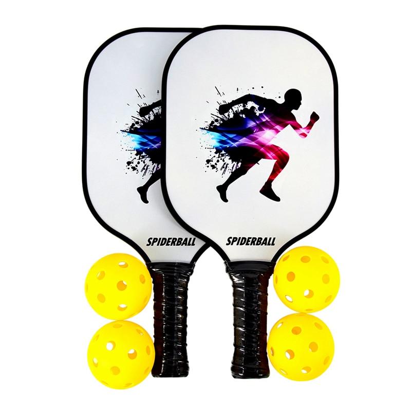SPIDERBALL 6PCS Pickleball Paddle 2 racchette artigianali in grafite Premium nucleo a nido d'ape 4 palline Ultra cuscino racchetta