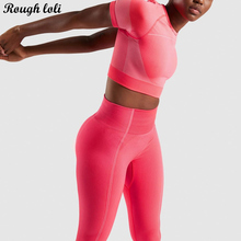 2pcs ultra seamless yoga set for women workout gym crop top high waist seamless leggings fitness gym clothing sports suit