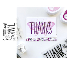 JC Thanks Letters Rubber Stamps for Scrapbooking Sheet Silicone Seals Craft Stencil Album Clear Mold Card Make Template