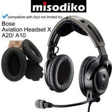 Misodiko reemplazo almohadillas para los oídos Kit de cojín para Bose aviación Headset X A10 A20, auriculares reparación piezas almohadillas para los oídos con copas para los oídos