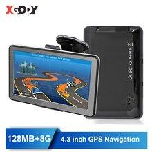 XGODY araba GPS navigasyon 4.3 inç Sat Nav kamyon GPS Navigator ekran ile 2020 amerika avrupa ücretsiz harita rusya Navitel 128MB + 8G
