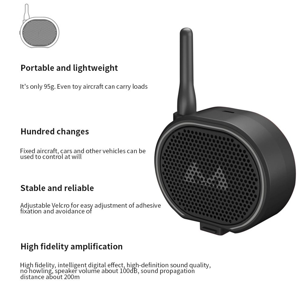 Voice Calling USB Charging Government Police Easy Install Wireless Speaker Spare Parts Remote Control Loud Drone Megaphone