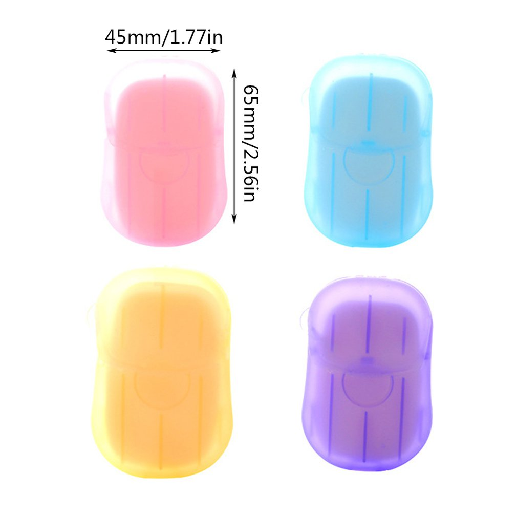 Travel Disposable Soap Tablets Boxed Toilet Paper Portable Hand Sanitizer Small Soap Tablets Mini Soap Paper
