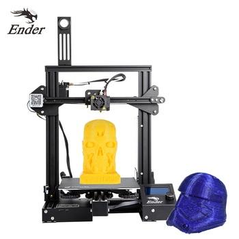 CREALITY 3D drukarki Ender-3 pro DIY zestaw duży rozmiar I3 3D Ptinter wznowić awaria zasilania drukowanie MeanWell mocy tanie i dobre opinie 1 75mm 10-180mm s 110℃ 0 1-0 4mm As description Max Traveling Speed 180mm s PLA ABS TPU etc Cura Repetier-host