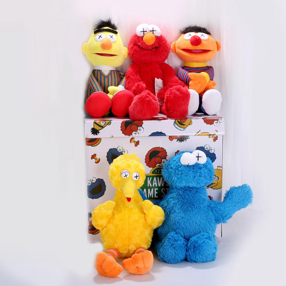 32/54cm New Arrive High Quality Sesame Street Elmo Cookie Monster Soft Plush Toy Dolls Children Educational Toys Gift For Kids