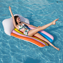2019 new large size Swimming Pool Inflatable Hammock Bed Rainbow cloud inflatable floating row 180*110cm Floating Chair