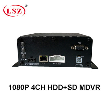 Factory direct batch HD 4 channel AHD720P HD pixel mobile DVR excavator / harvester / cash transport truck PAL / NTSC system