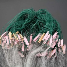 Fishing Net 25m 3 Layers Monofilament Gill with Float Network Mesh Trap Netting Tackle Outdoor