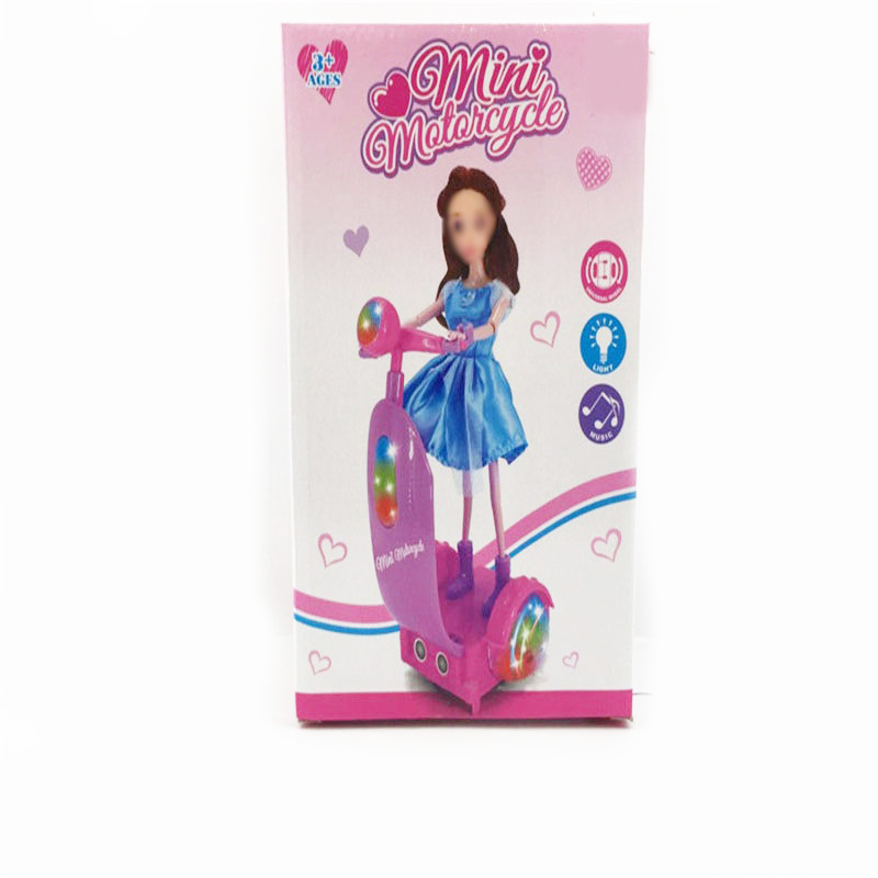 Children'S Educational Electric Doll Electric Balance Car Doll Light Included Light Music Universal Sports Doll